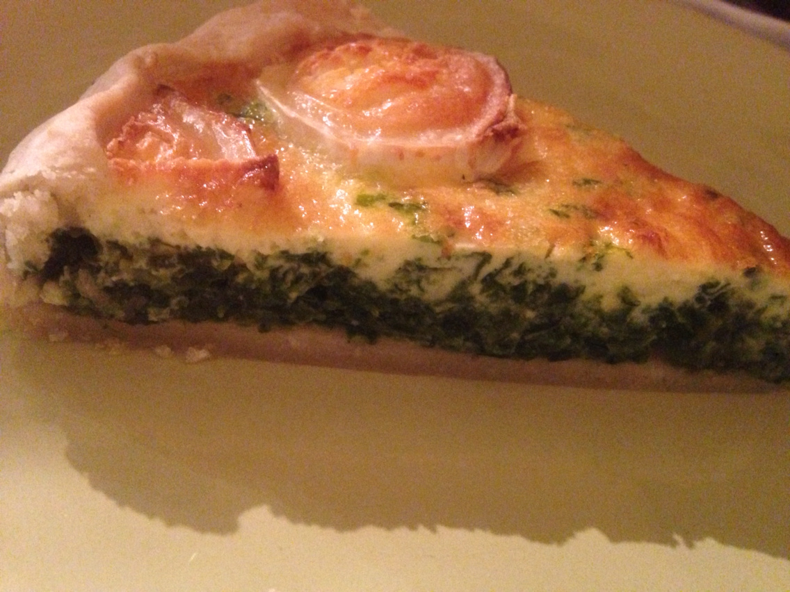 Goat cheese spinach pie